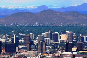 Photo of downtown Phoenix, Arizona.
