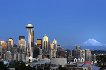 EB-5 Regional Center in Washington state. Photo of downtown Seattle, Washington.